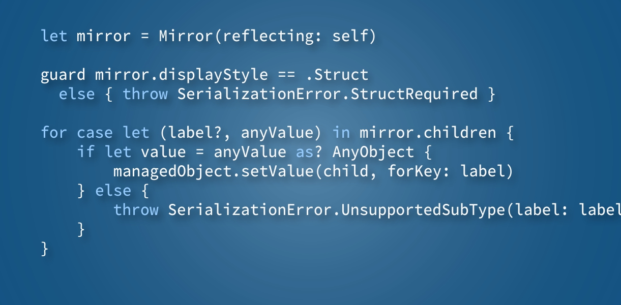 The Swift Reflection API and what you can do with it