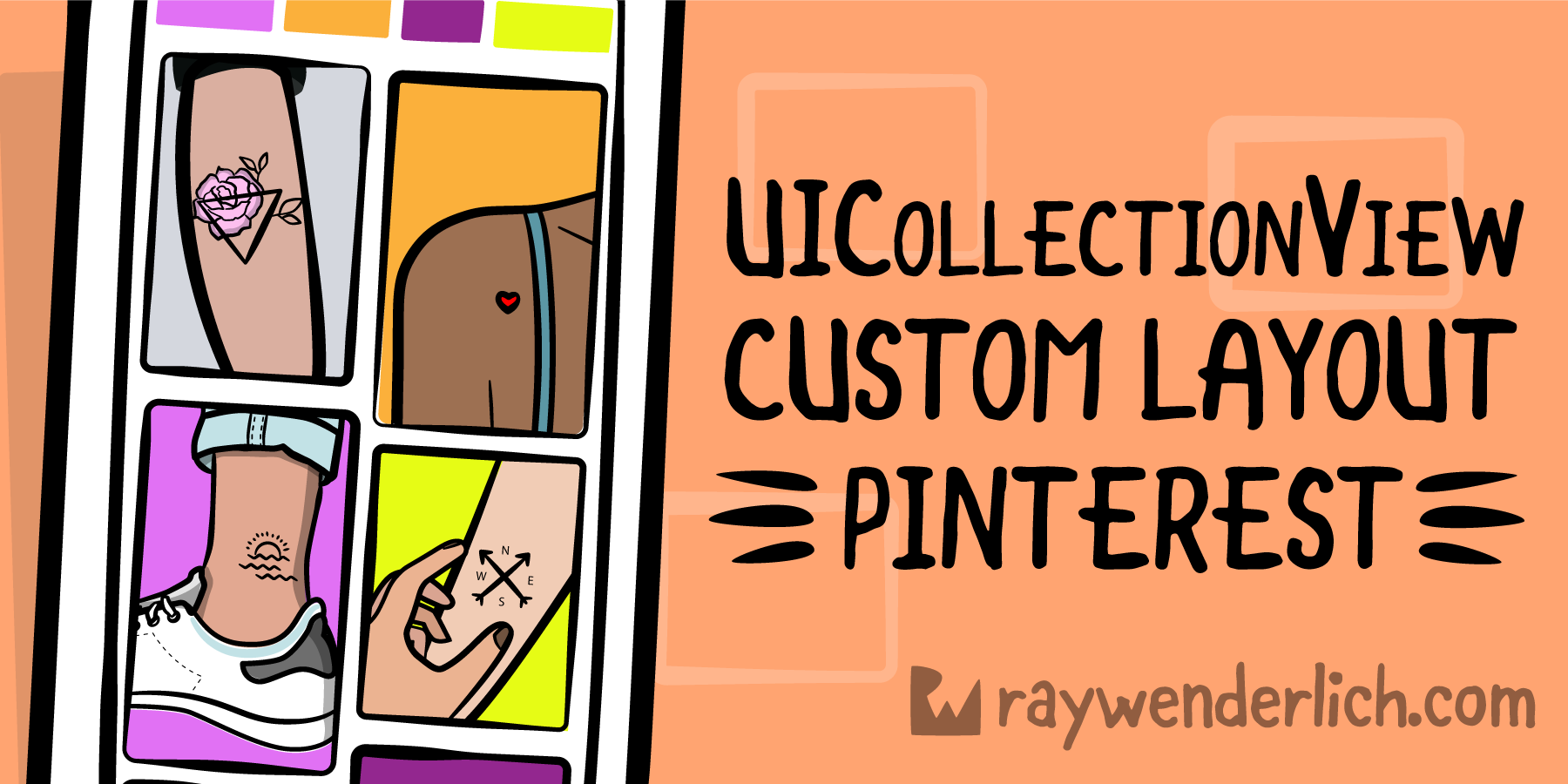 UICollectionView Custom Layout Tutorial: Pinterest