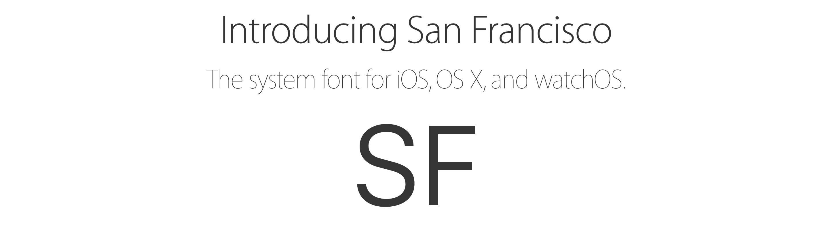 San Francisco display vs text and compact vs normal