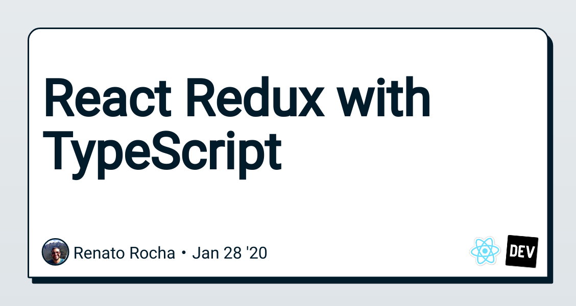 React Redux with TypeScript