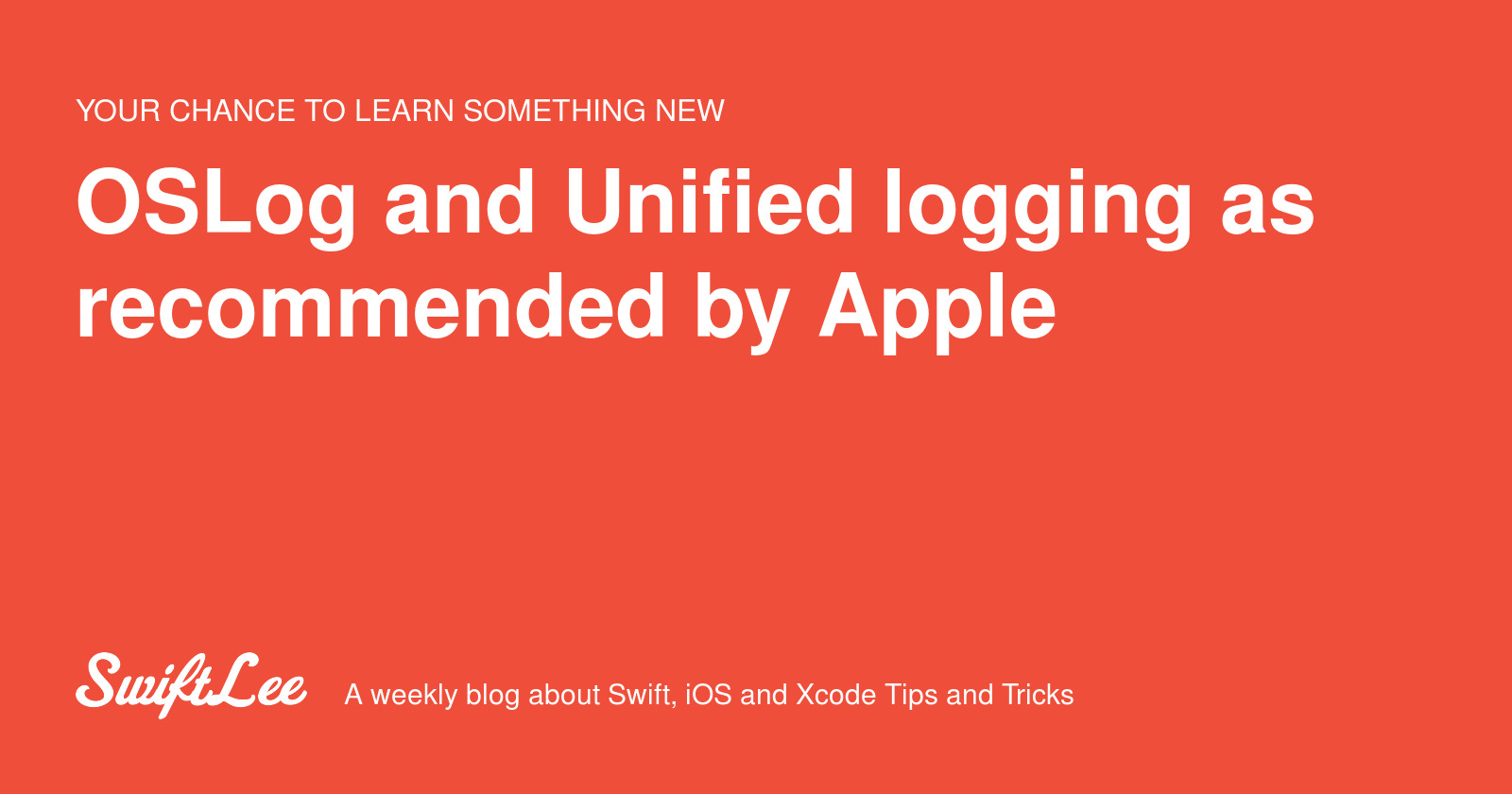 OSLog and Unified logging as recommended by Apple