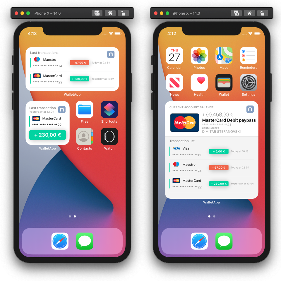 Creating an iOS Widget for your Wallet app